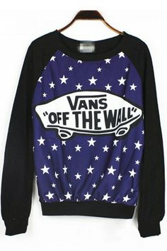 The sweatshirt featuring star graphic. Graphic Sweaters, Graphic Sweatshirt, Printed Sweatshirts, Hoodies, Fashion Sweatshirts, Vanz, Future Clothes, Look Cool, Sweater Weather