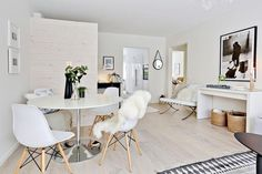 Un casa nórdica con muebles transparentes | Decorar tu casa es facilisimo.com