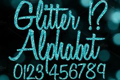 Green Glitter Alphabet Clip Art Graphics This is not a font file! These are separate .PNG clip art files. These are perfect if you don't have by Paper Element