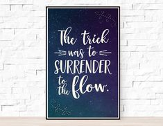 """Phish Lyrics Quote Poster - Lizards - """"The trick was to surrender to the flow"""" Phish Posters, Band Posters, Quote Posters, Gig Poster, Music Posters, Song Lyrics Art, Lyric Quotes, Vinyl Craft Projects, Pearl Jam Posters"""