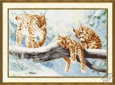 Lynxes - Cross Stitch Kits by ZOLOTOE RUNO - DZH-033