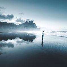 Stokksnes or Vestrahorn is one of the most beautiful locations in Iceland. It is located in the south eastern part of Iceland so its a… Iceland Road Trip, Iceland Travel, 1 Place, Most Beautiful, To Go, Places To Visit, Long Drive, Waves, Outdoor