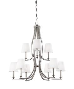 Murray Feiss F3118 9 Pave 34 Inch Wide 9 Light Chandelier | Capitol  Lighting 1