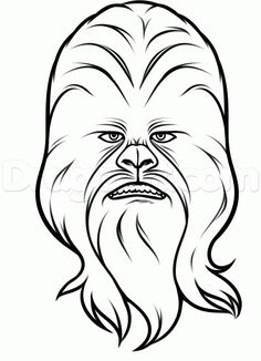 how to draw chewbacca easy step 7
