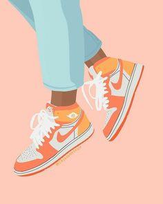 Cute Canvas Paintings, Easy Canvas Art, Small Canvas Art, Diy Canvas, Aesthetic Painting, Aesthetic Art, Sneaker Art, Art Drawings Sketches, Nike Drawings