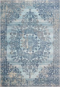 Blue Distressed Area Rugs, Cotton Backing Light Blue Area Rug, Blue Area Rugs, Small Apartment Decorating, Decorating Your Home, Living Room Carpet, Rugs In Living Room, Staircase Makeover, Provence Style, Colourful Cushions