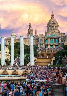 Travel the beautiful streets of Barcelona, Spain and visit the Magic Fountain of Montjuic. Don't forget to try the city's delicious paella!