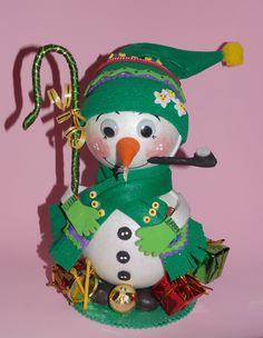 muñeco nieve goma eva