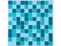 Mosaikmatte Glas Türkis Mix Translucent 30 cm x 30 cm