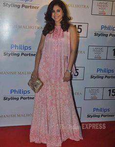 Urmila Matondkar at Manish Malhotra's fashion show at Lakme Fashion Week Winter/Festive 2015. #Bollywood #LFW2015 #Fashion #Style #Beauty #Classy