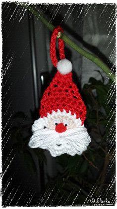 Anhänger Weihnachtsmann... Anleitung: https://www.youtube.com/watch?v=YmdmZ0LC010