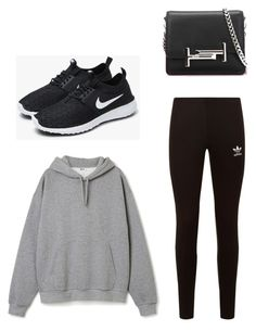 """""""Chill day"""" by kamilleheinild on Polyvore featuring adidas Originals, NIKE and Tod's"""