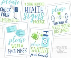 Sanitize Sign Package Please Sanitize Wear a Mask Keep your | Etsy Digital Invitations, Printable Invitations, Party Printables, Birthday Invitations, Email Providers, Birthday Fun, Birthday Ideas, Over The Moon, Back To School