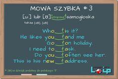 Learn English Words, English Lessons, Polish Language, Education English, English Vocabulary, Self Improvement, Grammar, Knowledge, Teaching