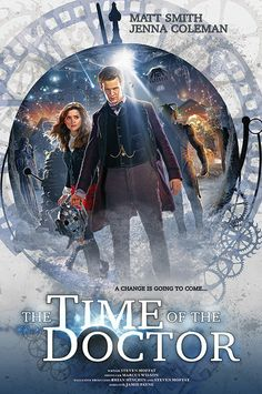 Doctor Who: Time of the Doctor Poster When you see Clara's face as she looks at him it seems to be filled with sadness like she knows what's going to happen.....