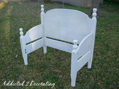 how to create a bench from an old headboard