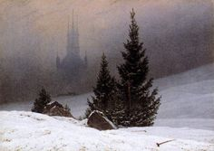 Winter Landscape, Caspar David Friedrich