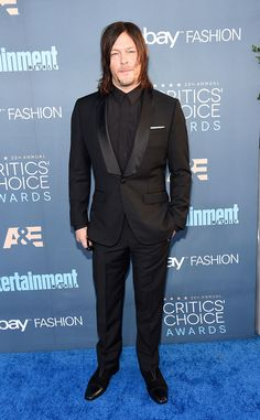 Norman Reedus from 22nd Critics' Choice Awards Red Carpet Arrivals  The Walking Dead actor went for the classic black-on-black look.