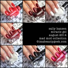 sally hansen miracle gel swatches mad mod collection
