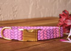 Today's collar is for the ladies again! Pink and purple petals in a herringbone-esk pattern is sure to please your girly pups.  We have also launched a new bandana today in the shop so go check it out. #walkinthebark #prettyinpink #petals by walkinthebark
