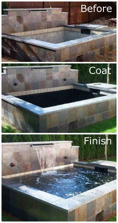Waterproofed Pond - The Best way to permanently waterproof decorative fountains, water features and more!