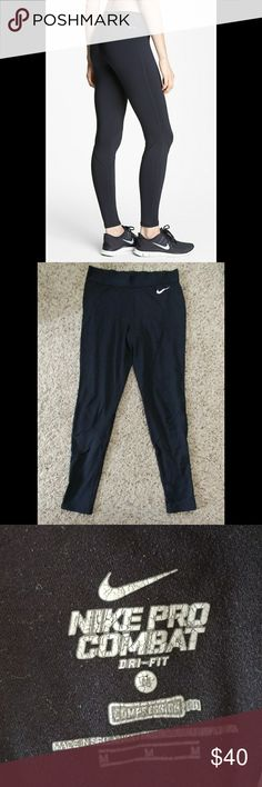 Black Nike pro leggings Black Nike pro leggings no holes, tears, or stains Nike Pants Leggings