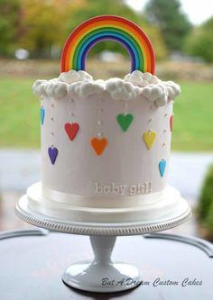 Rainbow Cake Smash Rainbow Baby - Cake by Elisabeth Palatiello Rainbow Parties, Rainbow Birthday Party, Art Birthday, Rainbow Baby, Cake Rainbow, Rainbow Room, Rainbow Nursery, Rainbow Theme, Rainbow Heart