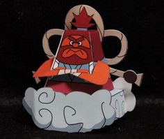 Youkai Watch - Thunder Daddy Raioton Paper Toy - by Vayashi - == - This is Thunder Daddy Raioton, from Youkai Watch anime, here in a nice paper toy version created by Japanese designer Vayashi. In the anime, when he gets angry, turns huge thunders over the earth.