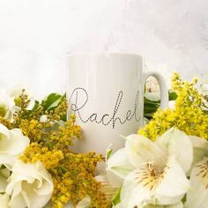 Personalised ceramic bee illustration mug – And so to Shop Bee Illustration, Bee Design, Personalized Mugs, New Home Gifts, Hand Lettering, Gifts For Women, Recycling, Ceramics, Nottingham