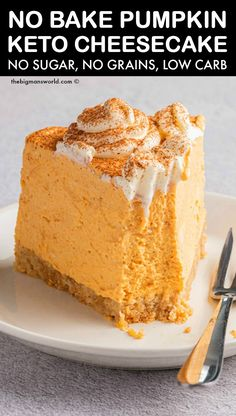 Low Carb Pumpkin Cheesecake, Sugar Free Cheesecake, Sugar Free Desserts, Sugar Free Recipes, Pumpkin Recipes Low Carb, Diabetic Desserts Sugar Free Low Carb, Diabetic Cheesecake, Pumpkin Cheescake, Diabetic Deserts