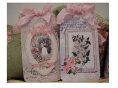 Shabby Vintage Seed Packet Gift Tags  SET of 6 by Peachygirl, $6.00