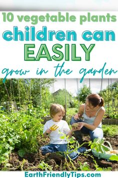 Gardening is a great hobby for children to start. It gets them outside, teaches them how plants grow, and encourages them to eat healthy. If you're interested in helping your kids start a children's garden, check out these 10 vegetable plants children can easily grow in the garden. These easy-to-grow vegetables are ideal for beginners, which makes them perfect for a children's garden. Check out these best plants for kids to grow today! garden|gardening|best plants for kids|vegetables for kids How Plants Grow, Cool Plants, Easy Vegetables To Grow, Planting Vegetables, Cherry Tomato Plant, Planting For Kids, Eco Garden, Green Living Tips, Help The Environment