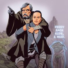 Edward Pun art blog. It took me so long to get this. Then I remembered the scene with Yoda from the old trilogy.