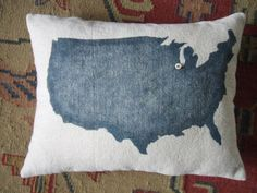 Map on a pillow? :) pin point places lived