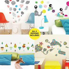 128 Removable, replaceable, and reusable wall decals