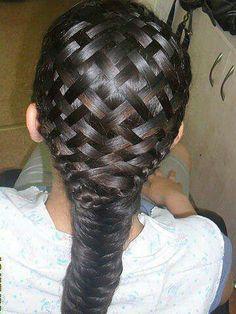 Basket weave hair style..