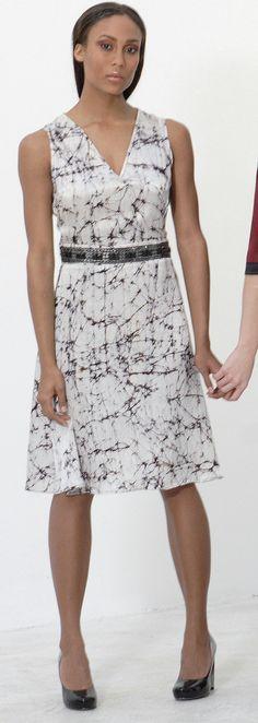 SALE JewelTrimmed Vneck Aline Dress in by speakeasyboutique