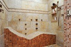 Bathroom features allow for prime relaxation Bathroom Niche, Bathroom Ideas, Steam Showers, Dream Bathrooms, Inspired Homes, Master Bath, Bathtub, Home And Garden, Luxury