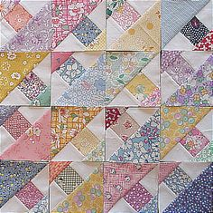 Reproduction 1930s print fabric quilt pieces