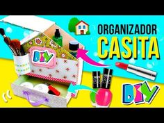 ORGANIZADOR de ESCRITORIO de cartón en forma de CASITA * Ideas fáciles DIY - YouTube