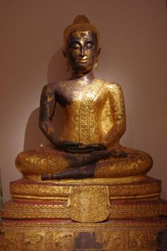 """Buddha"", #Thailand, 19thcentury"" Sculpture in #Ormolu of a #Buddha. For sale on Proantic by La Crédence."