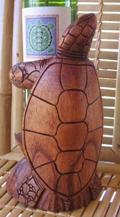 Wooden Turtle Wine Bottle Holder
