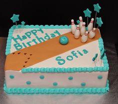 Bowling Cake by Cecy Huezo and Marina Lamb . www.delightfulcakesbycecy.com