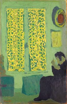 The Green Interior (Figure Seated by a Curtained Window) Édouard Vuillard