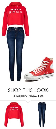 """Untitled #215"" by cruciangyul on Polyvore featuring New Look, 2LUV and Converse"
