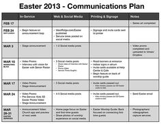 Neat example of Church Communication Planning. via @Phil Fishbein Bowdle #chsocm