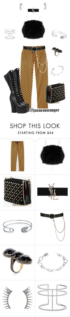 """""""City Chic"""" by jeunesauvage ❤ liked on Polyvore featuring Gucci, Marc Jacobs, Christian Louboutin, Yves Saint Laurent, Bling Jewelry, Wet Seal, Jennifer Miller, Latelita and APM Monaco"""
