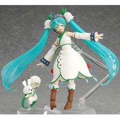 Hatsune Miku Figma 024 Snow Miku Snow Bell ver. PVC Action Figure Collectible Model Toy 14cm Approx Boxed Free Shipping