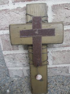 Rustic Wooden Cross Wall Hanging 12 x 675 by jenstinsondesigns, $20.00