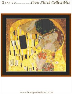 The Kiss - Klimt by Cross Stitch Collectibles at Leyreideas.com
